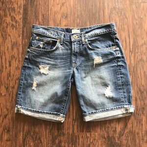 GAP Distressed Boyfriend Jean Bermuda Shorts